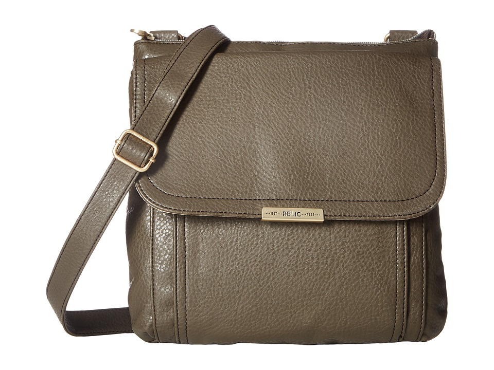 Relic - Kenna Top Zip Crossbody (Grey) Cross Body Handbags