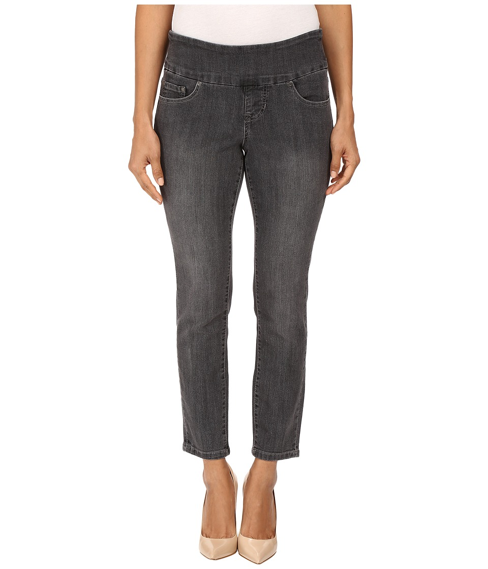 Jag Jeans Petite - Petite Amelia Pull-On Ankle in Comfort Denim in Thunder Grey/Destroy (Thunder Grey/Destroy) Women's Jeans