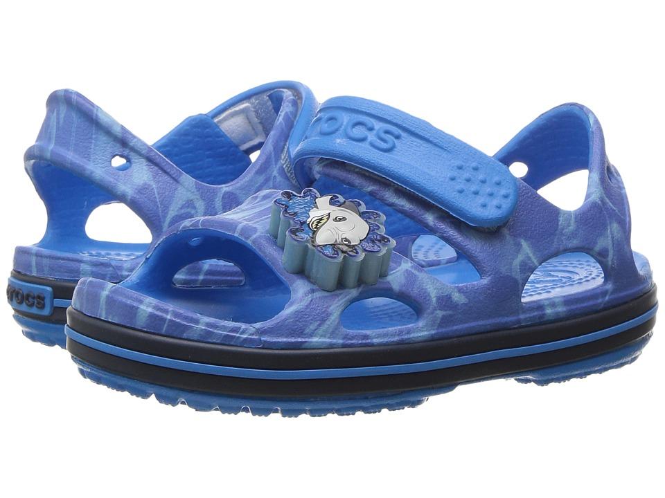 Crocs Kids - Crocband II LED Sandal (Toddler/Little Kid) (Cerulean Blue/Navy) Kids Shoes