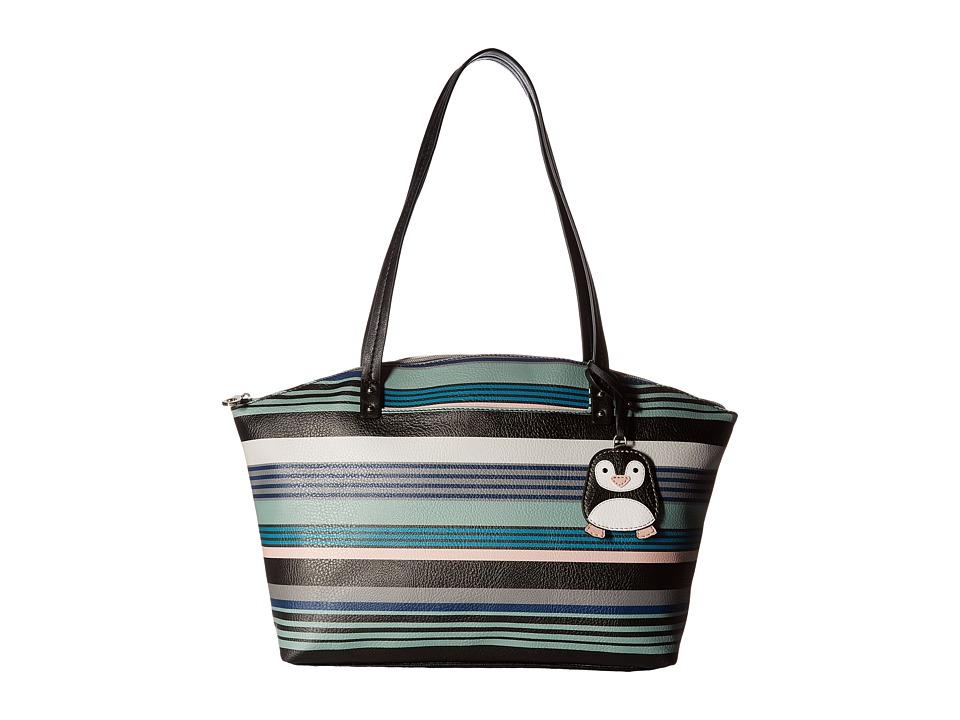 Relic - Caraway Novelty Medium Tote (Ultramarine Stripe) Tote Handbags