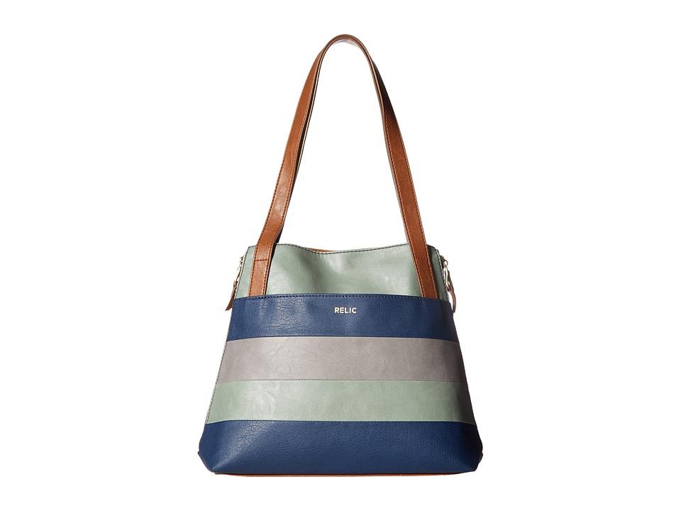 Relic - Emma Tote (Aqua Multi) Tote Handbags