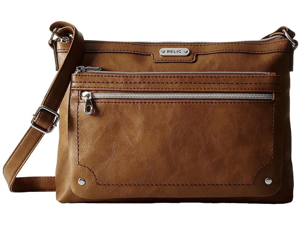 Relic - Evie East West Crossbody (Cognac) Cross Body Handbags
