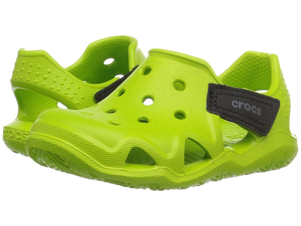 Crocs Kids - Swiftwater Wave (Toddler/Little Kid) (Volt Green) Kid's Shoes