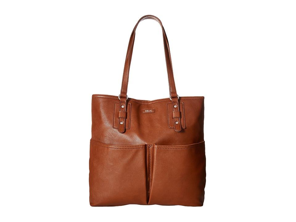 Relic - Bleeker N/S Tote (Cognac) Tote Handbags