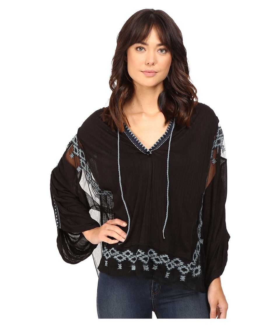Free People - Eden Top (Black) Women's Clothing