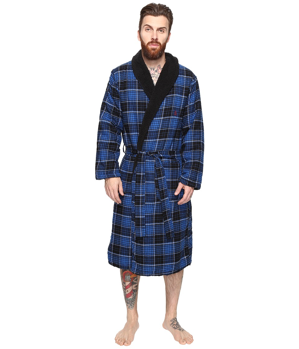 Original Penguin - Flannel Fleece Robe (Classic Blue) Men's Robe