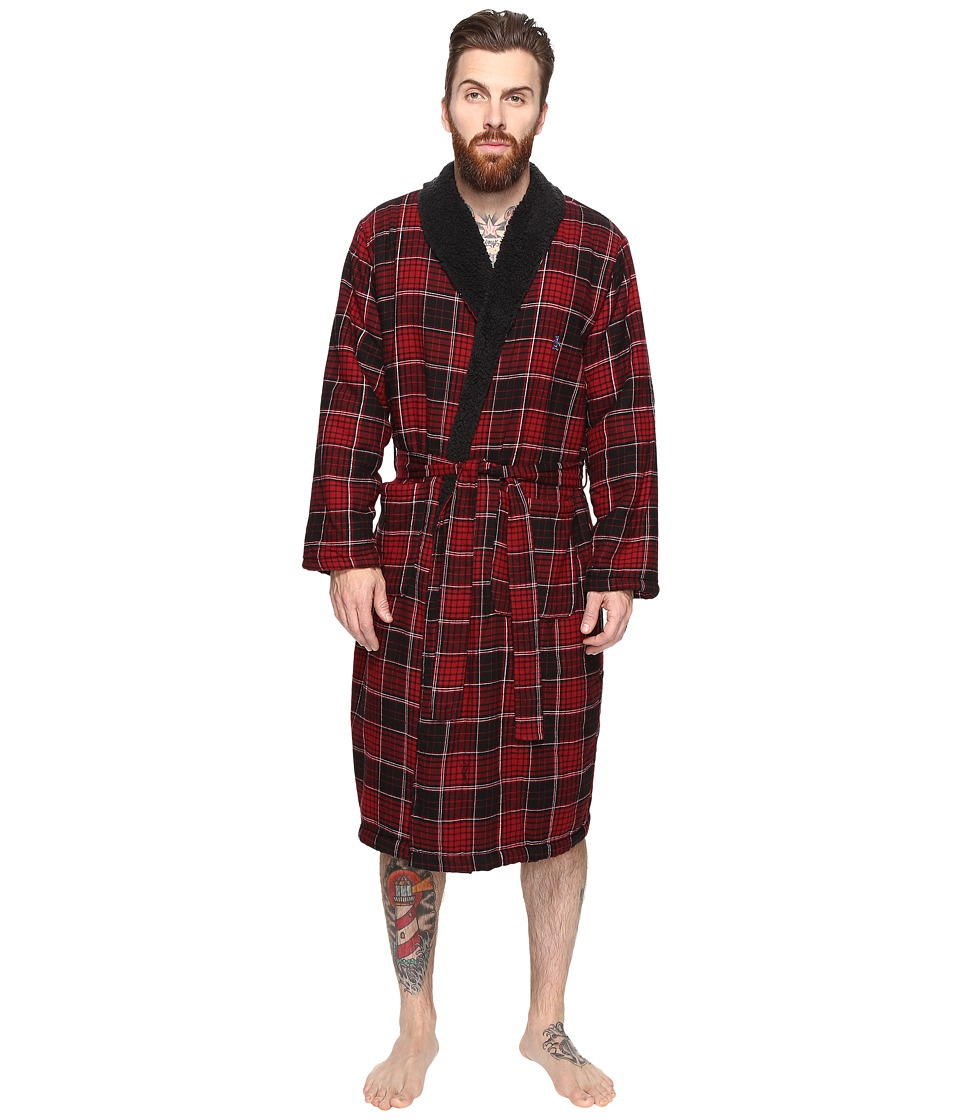 Original Penguin - Flannel Fleece Robe (Biking Red) Men's Robe