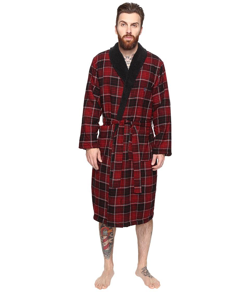 Original Penguin - Flannel Fleece Robe (Biking Red) Men's Robe