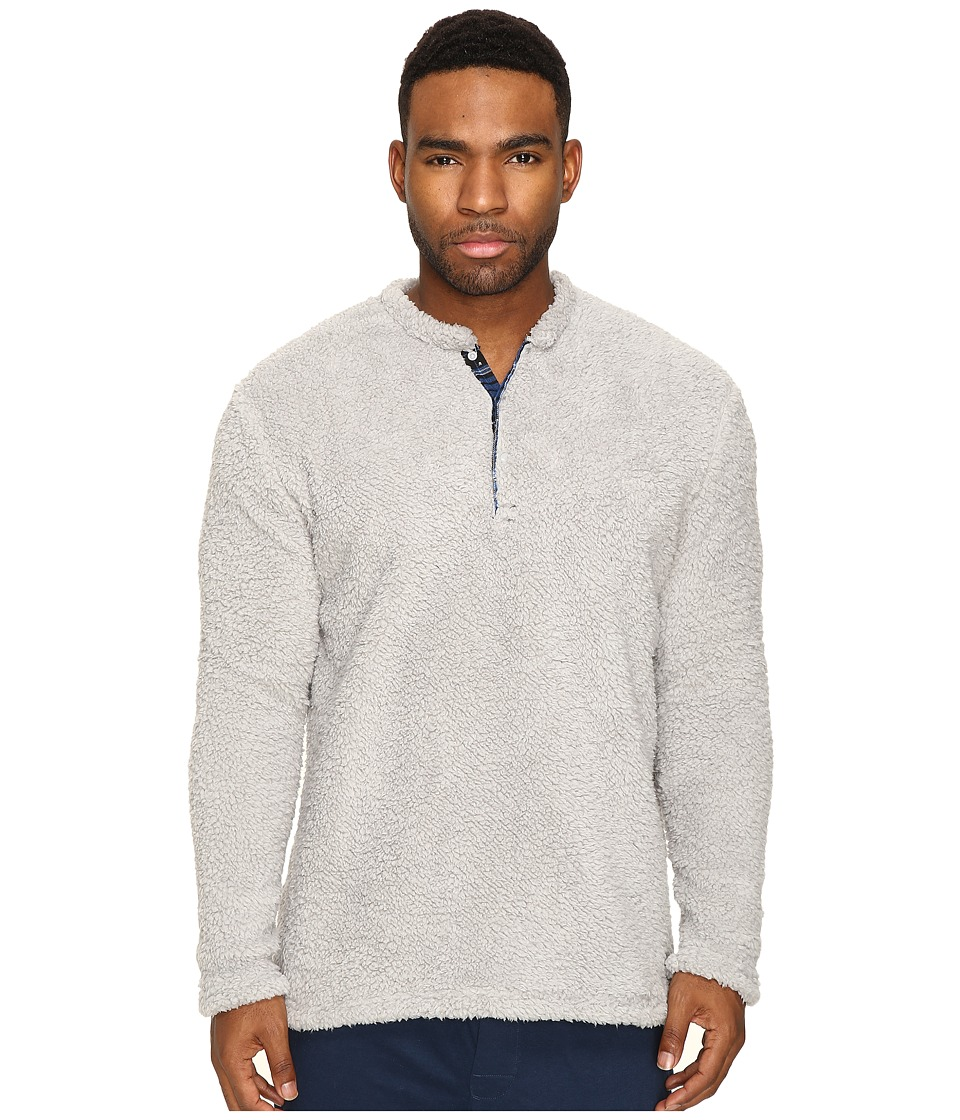 Original Penguin - Henley Fleece Lounge Top (Griffin) Men's Pajama