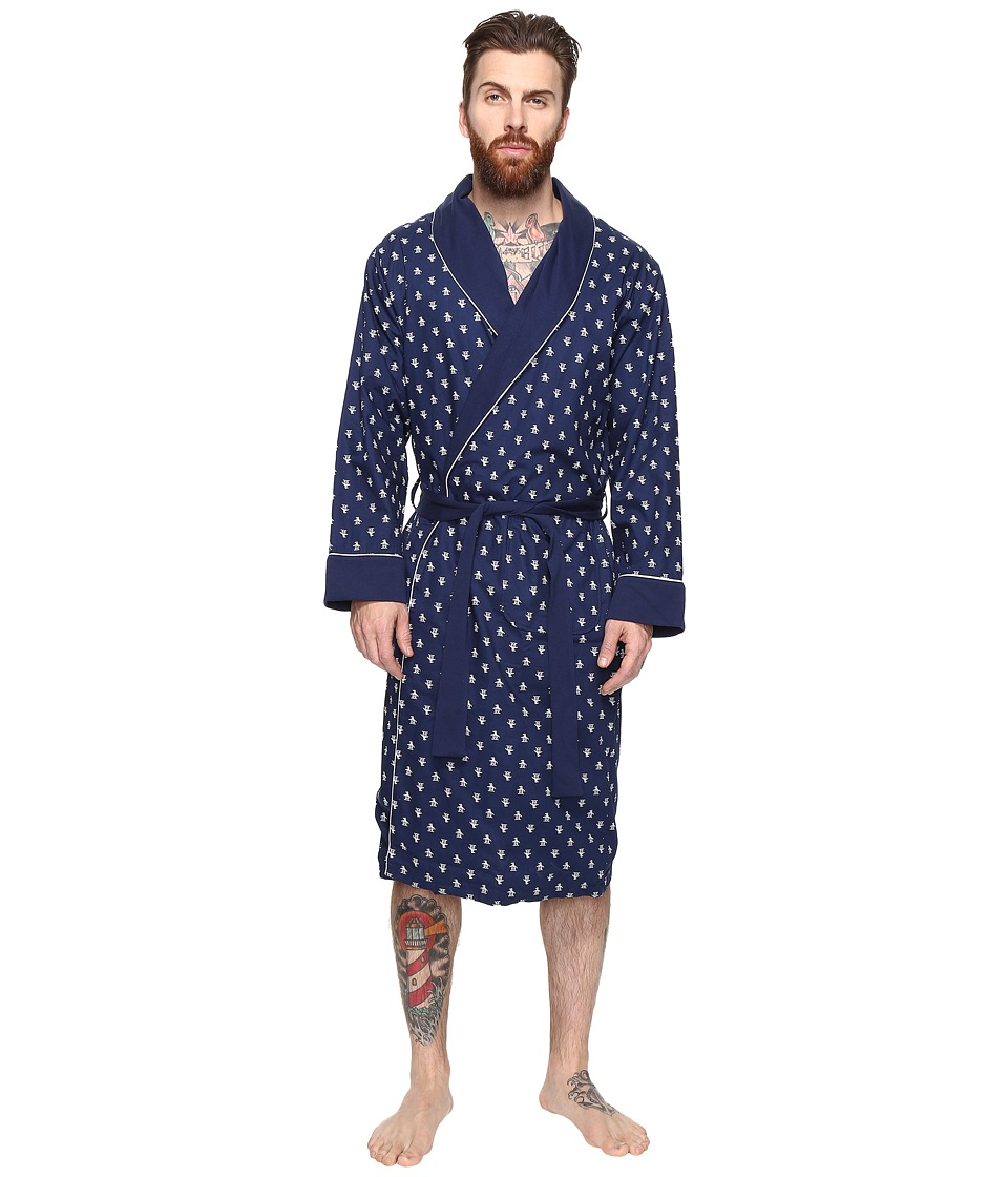 Original Penguin - Woven French Terry Robe (Medieval Blue) Men's Robe