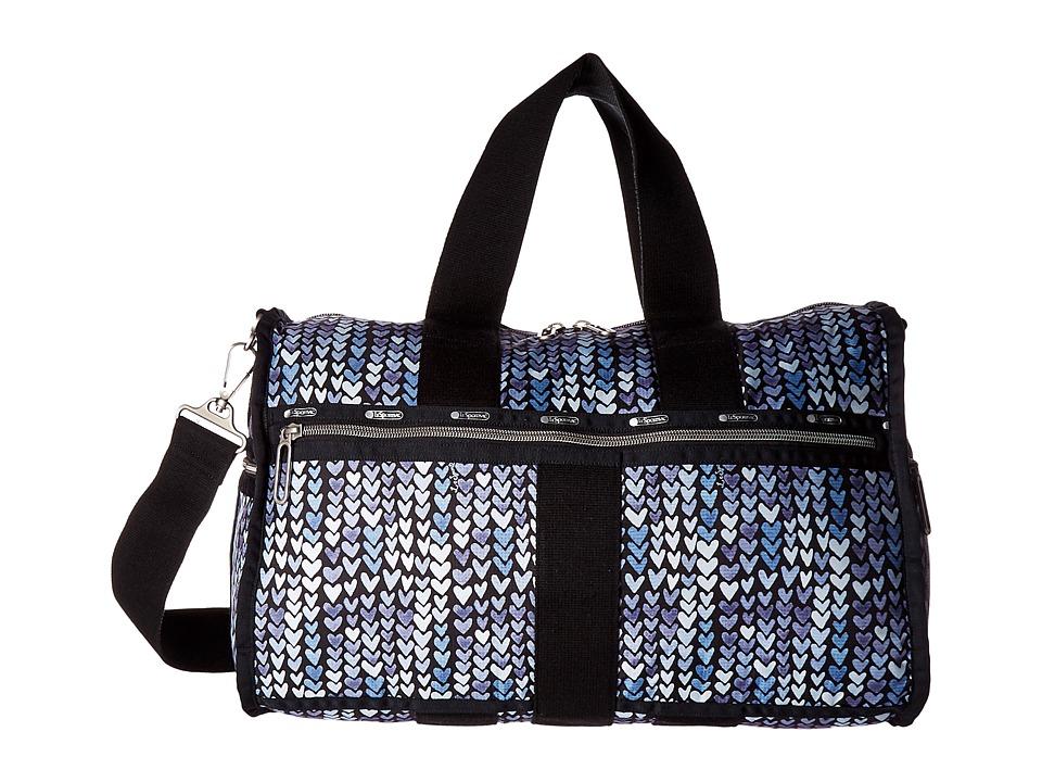 LeSportsac Luggage - Weekender (Painted Hearts Blue) Weekender/Overnight Luggage