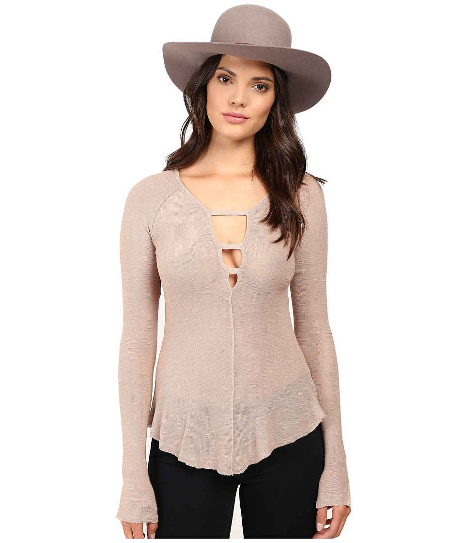 Free People - Bae Bae Layering Top (Nude) Women's Clothing