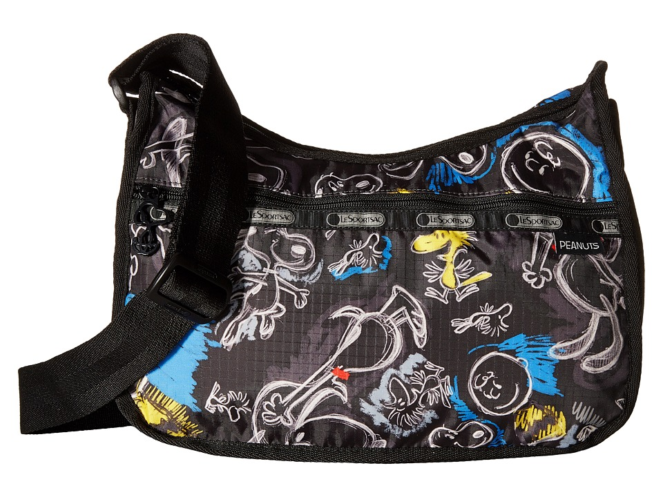 LeSportsac - Classic Hobo Bag (Chalkboard Snoopy) Cross Body Handbags