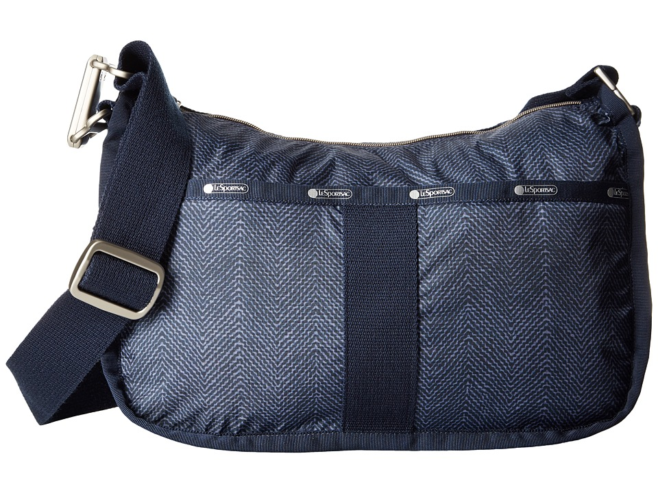 LeSportsac - Essential Hobo (Herringbone Blue) Hobo Handbags