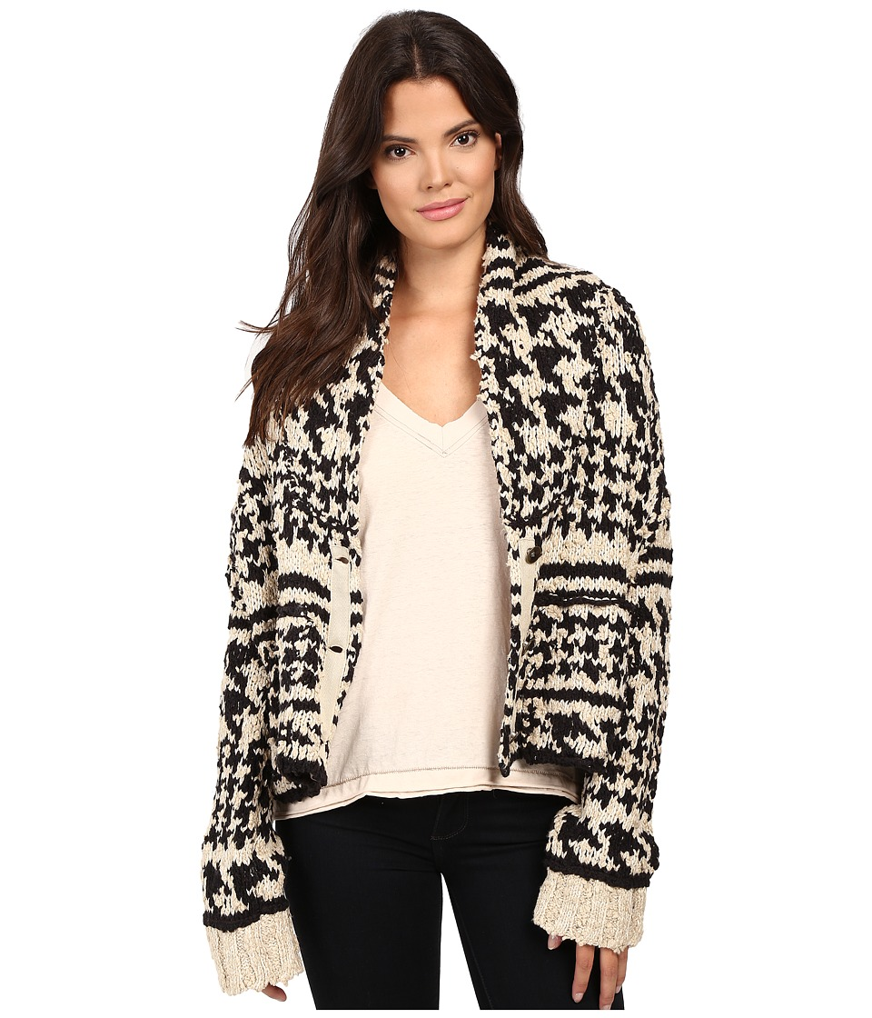Free People - Girls Will Be Boys Sweaters (Black/White Combo) Women's Sweater