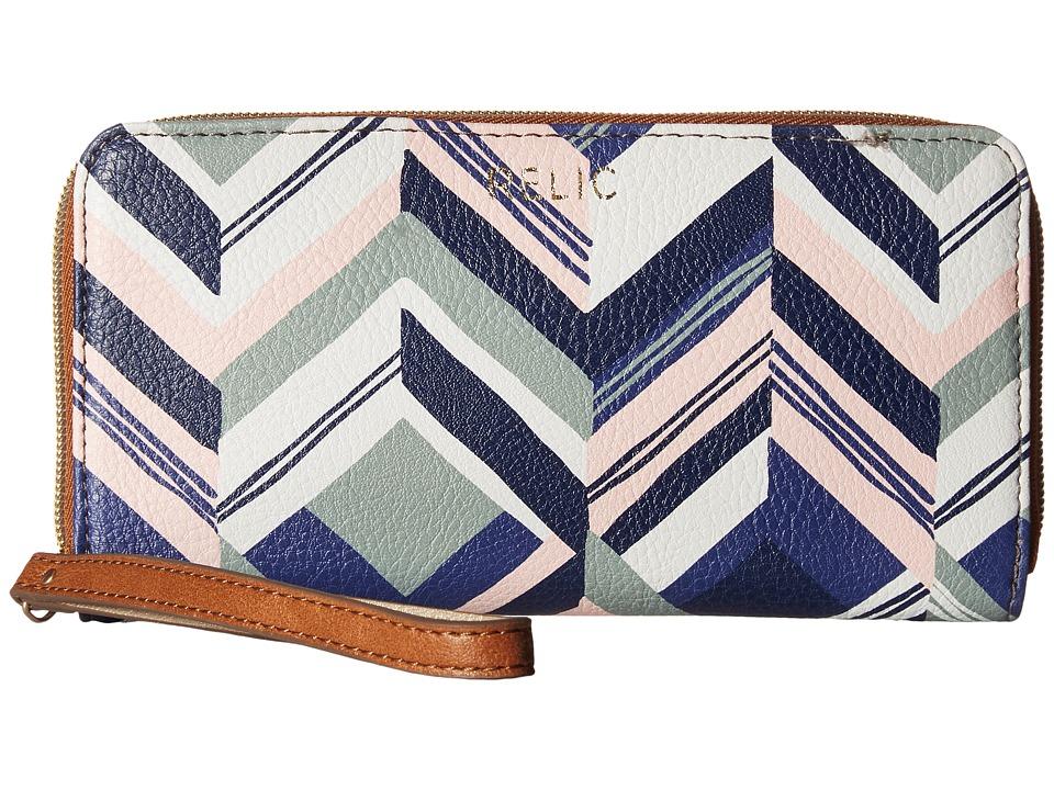 Relic - Emma Checkbook (Chevron Blue) Checkbook Wallet