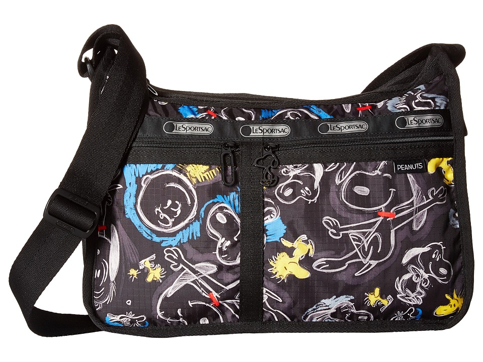 LeSportsac - Deluxe Everyday Bag (Chalkboard Snoopy) Cross Body Handbags