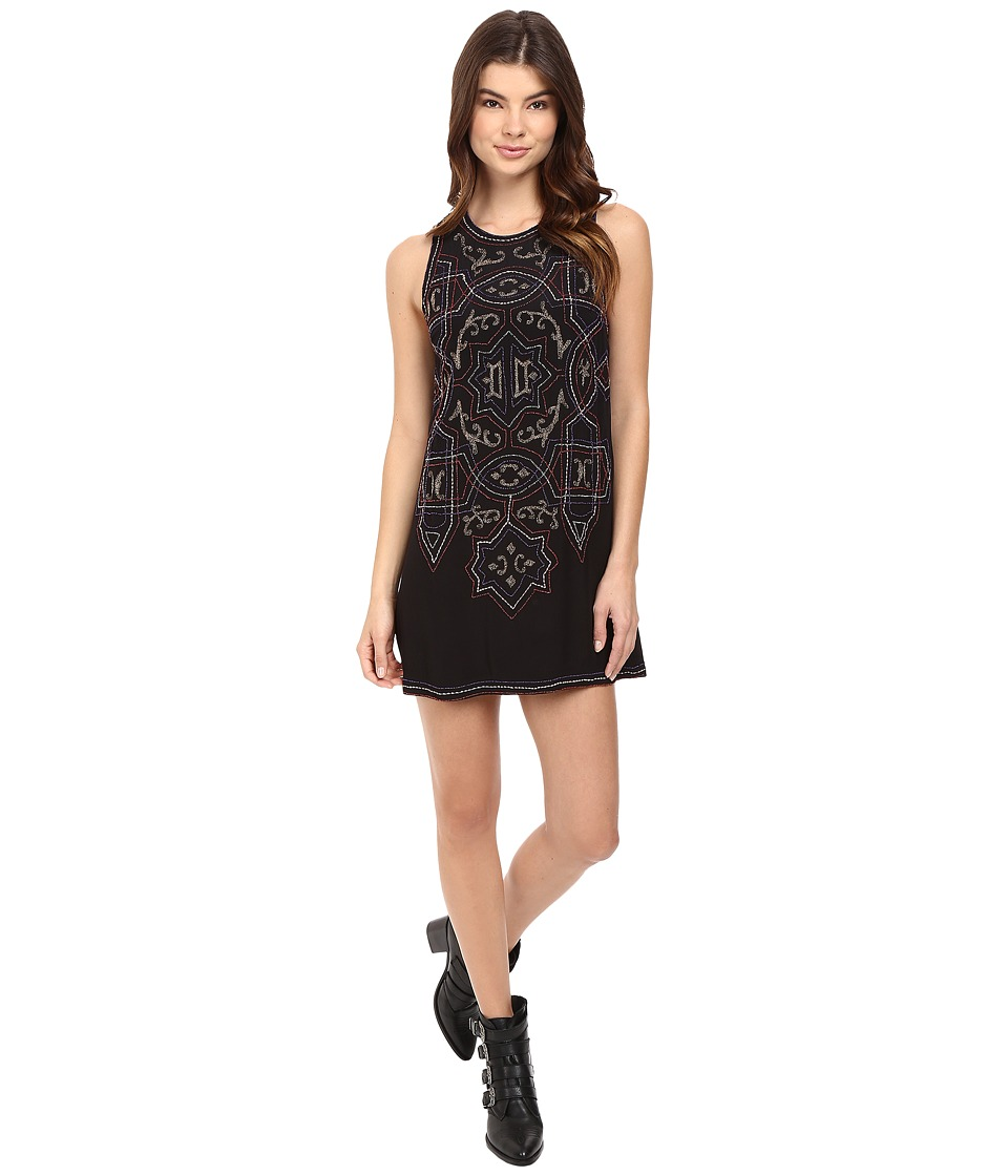 Free People - Mandala Shift Mini Dress (Black Combo) Women's Dress