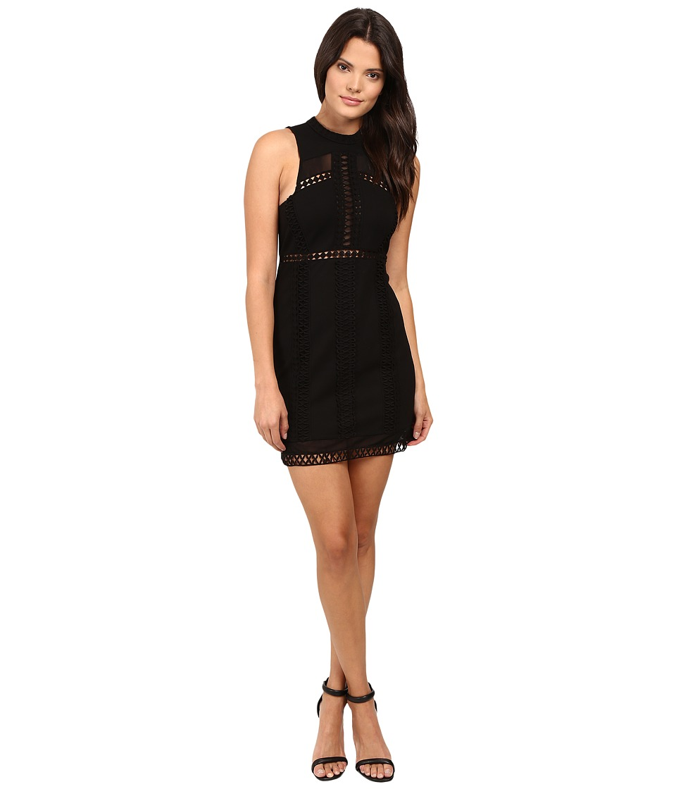 Free People - Sky Scraper Mini Dress (Black) Women's Dress