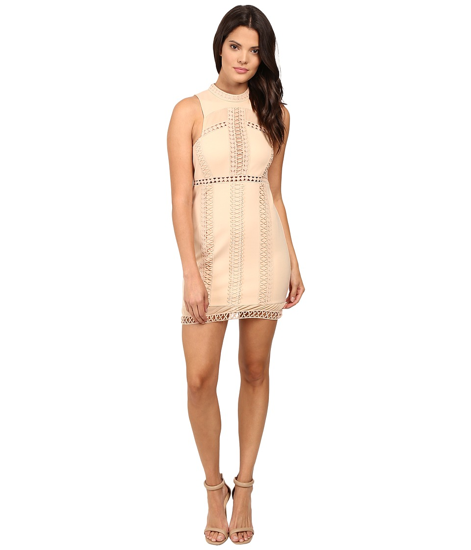 Free People - Sky Scraper Mini Dress (Nude) Women's Dress
