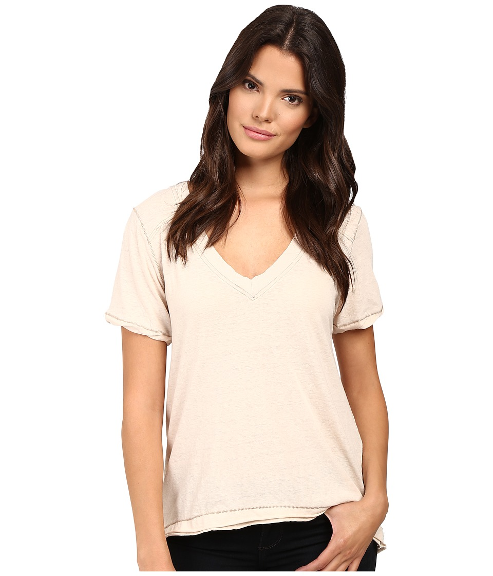 Free People - Pearl's Tee (Almond) Women's T Shirt