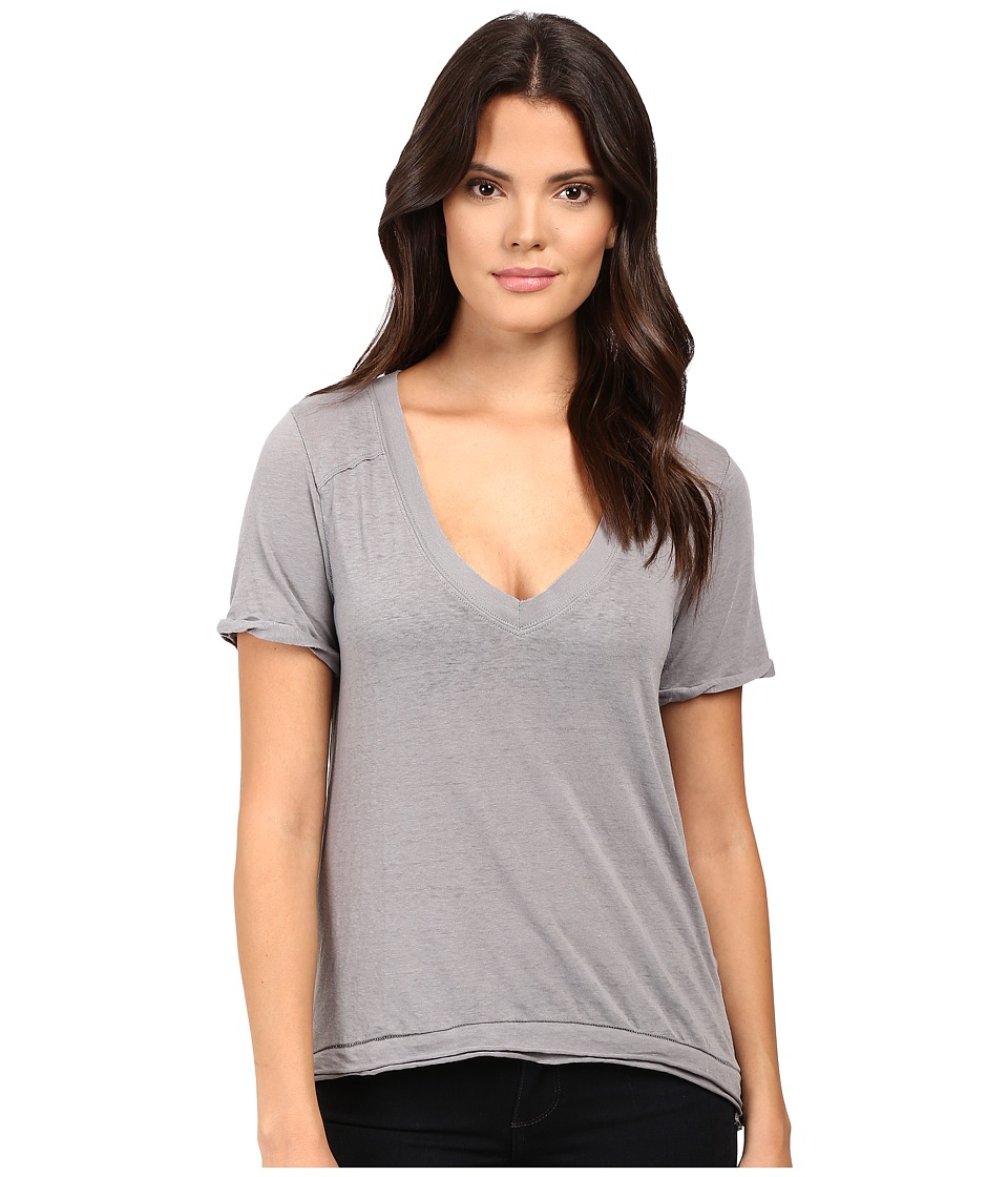 Free People - Pearl's Tee (Grey) Women's T Shirt