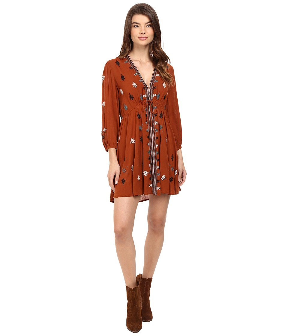 Free People - Star Gazzer Dress (Brown Combo) Women's Dress