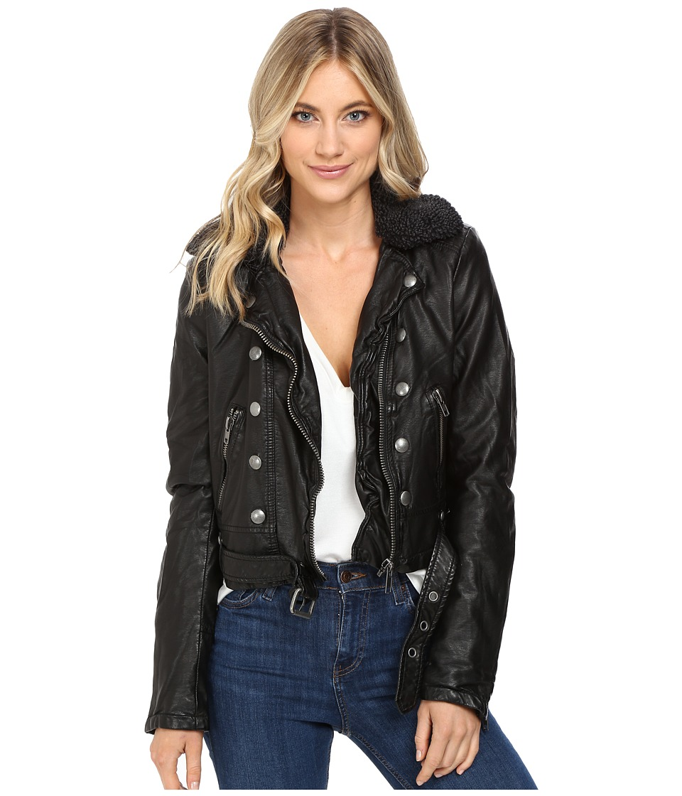 Free People - Ashville Vegan Jacket (Black) Women's Coat