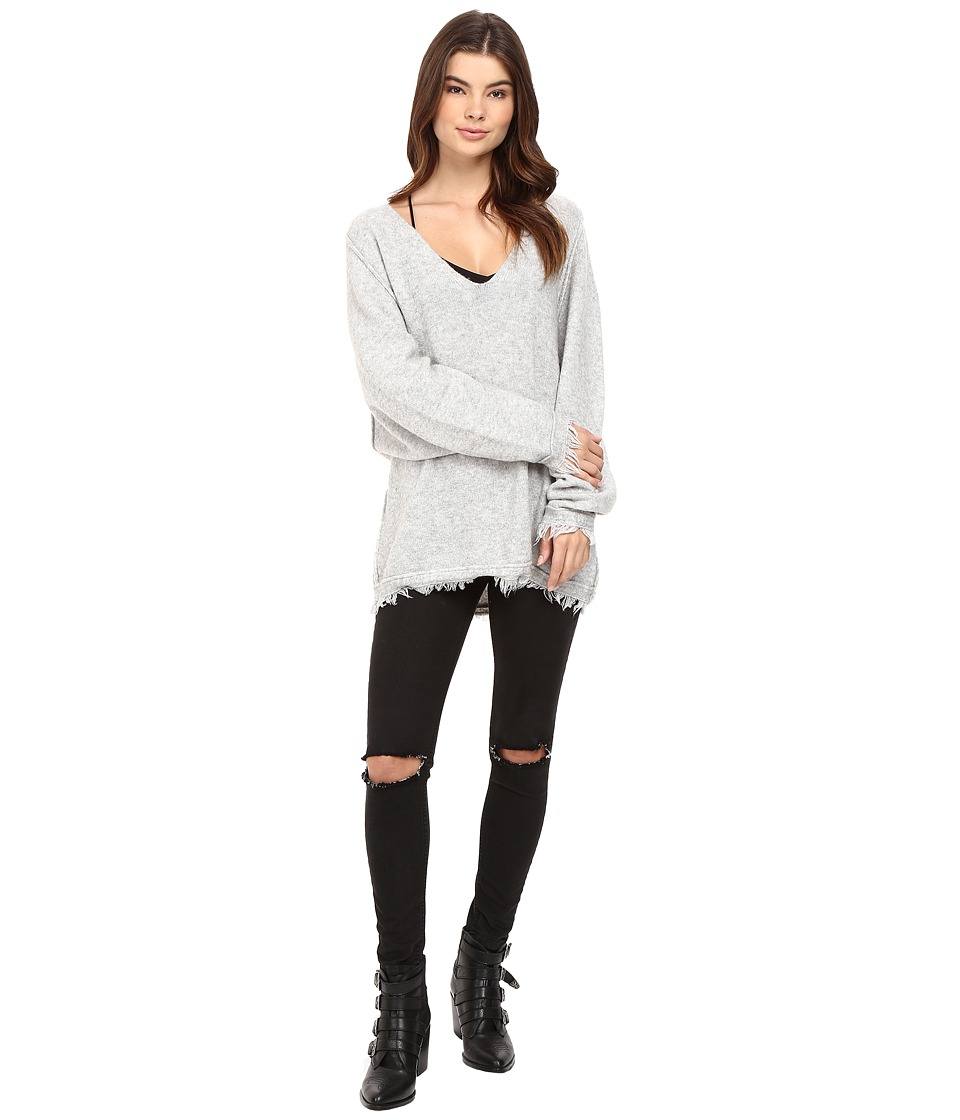 Free People - Irresistable V Sweater (Grey) Women's Sweater