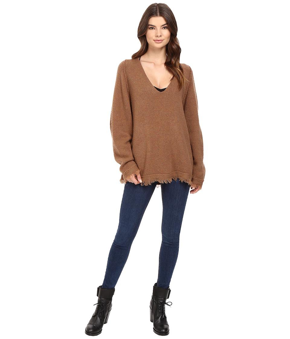 Free People - Irresistable V Sweater (Terracotta) Women's Sweater