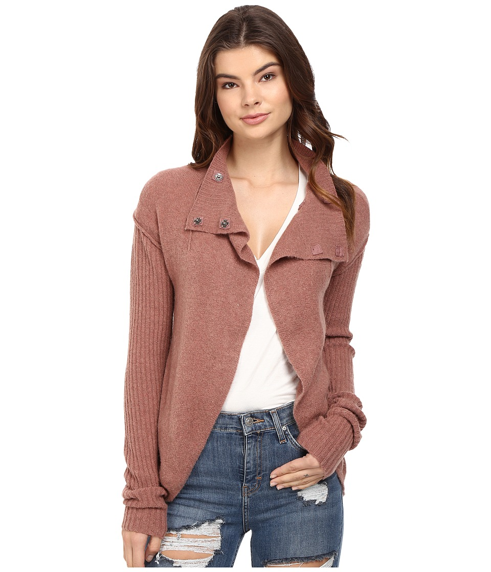 Free People - Cascade Cardigan (Mauve) Women's Sweater