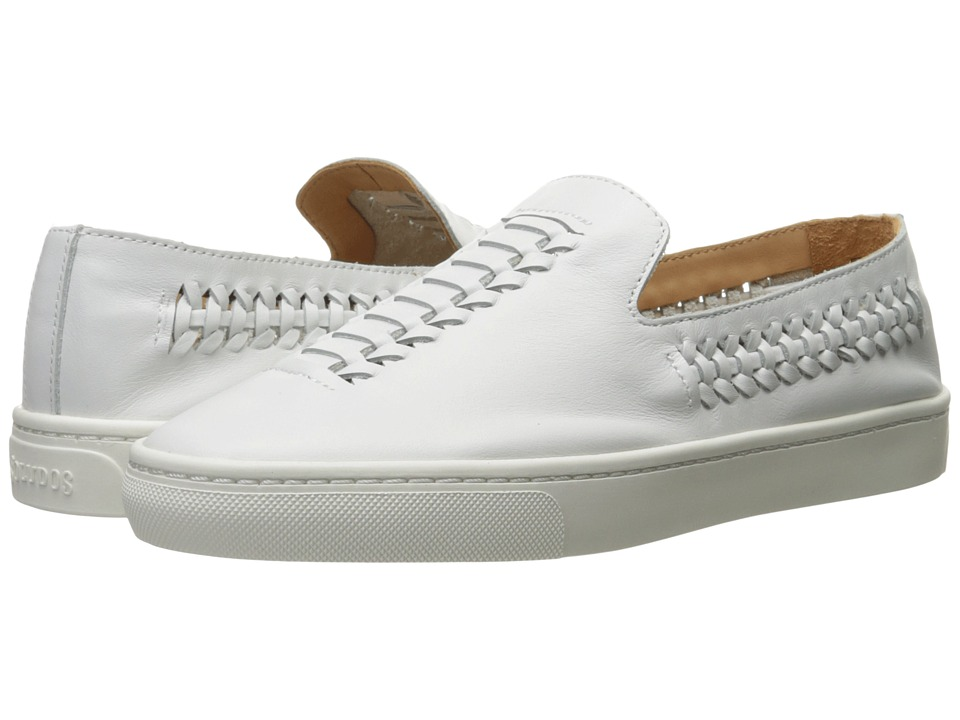 Soludos Woven Slip-On Sneaker (White Leather) Women