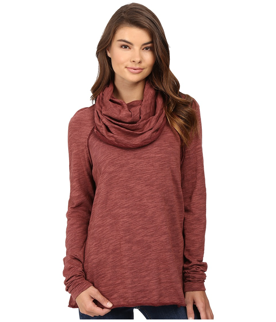 Free People - Cocoon Cowl Pullover (Terracotta) Women's Long Sleeve Pullover