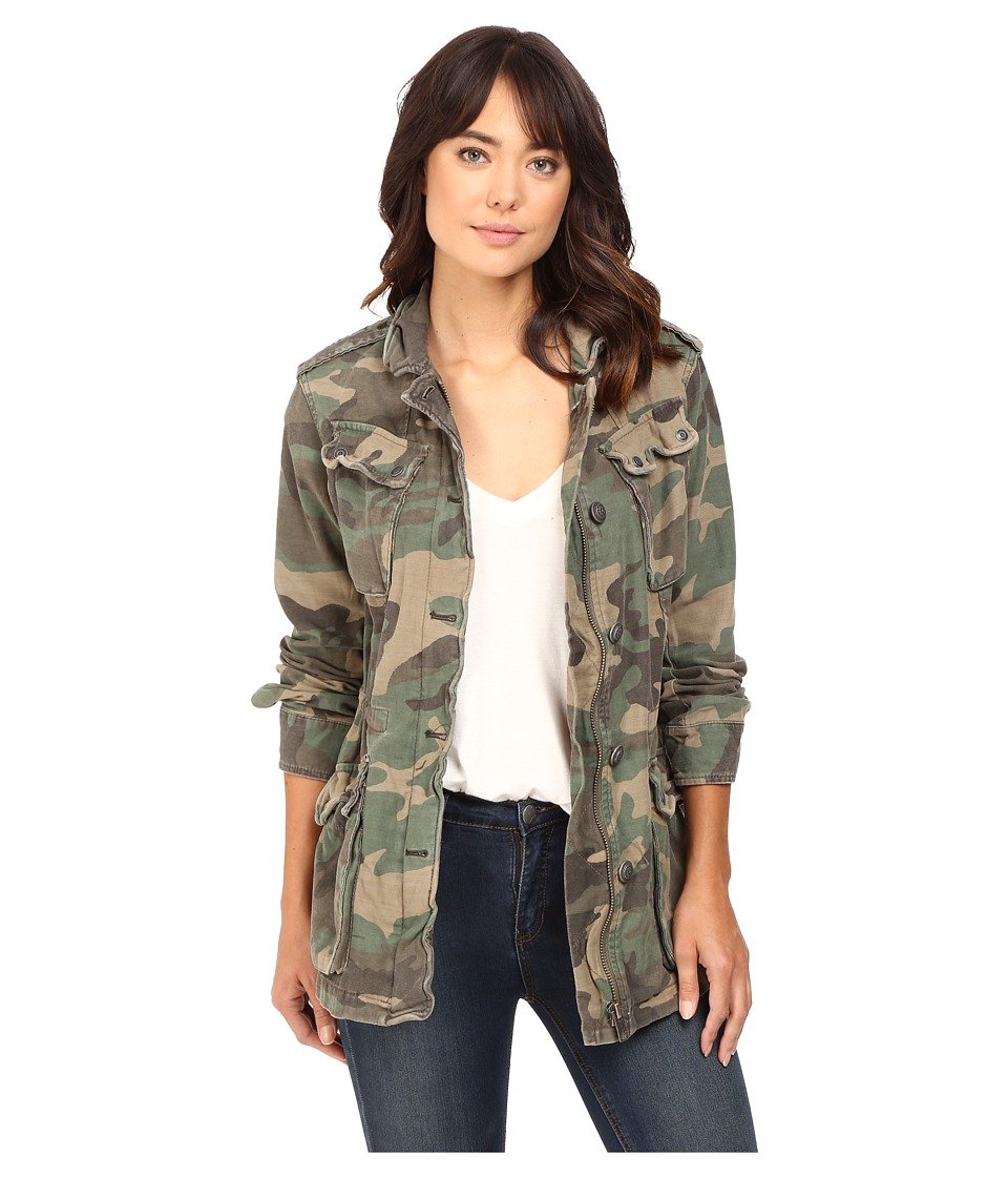 Free People - Not Your Brother's Jacket (Green Combo) Women's Coat
