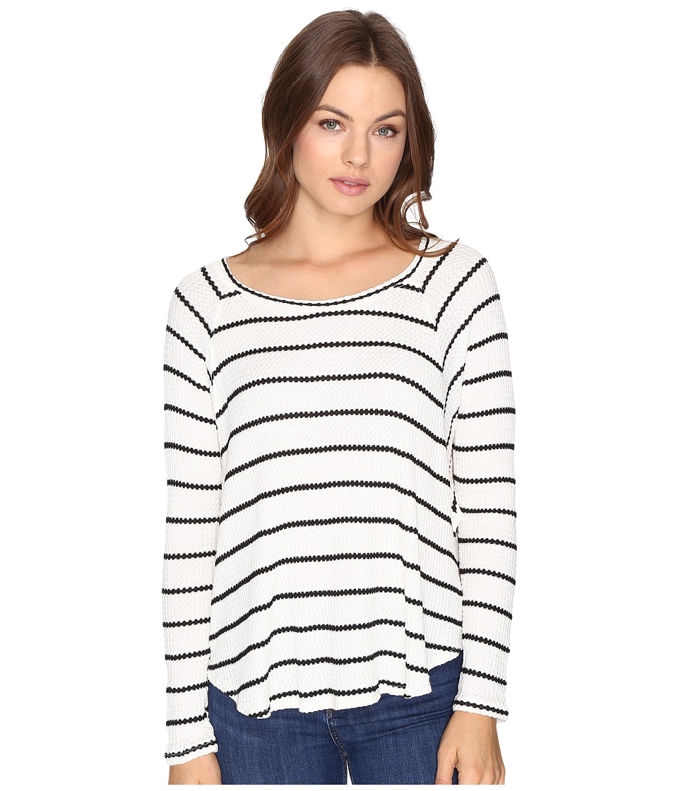 Billabong - Wound Up Thermal Top (Black/White) Women's Clothing