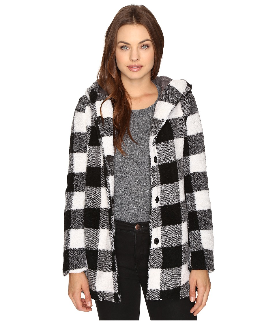 Billabong - Into the Forest Coat (Black/White) Women's Coat