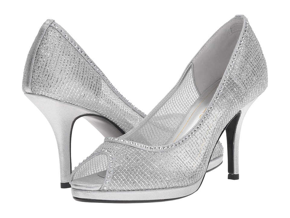 Caparros Future (Silver Metallic Mesh) High Heels