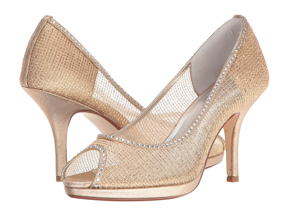 Caparros Future (Gold Metallic Mesh) High Heels