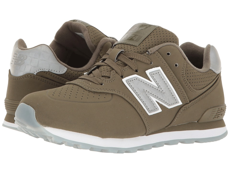 New Balance Kids - KL574v1 Ice Rubber (Big Kid) (Green/Green) Boys Shoes