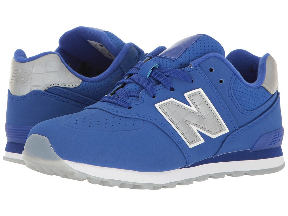 New Balance Kids - KL574v1 Ice Rubber (Big Kid) (Blue/Blue) Boys Shoes