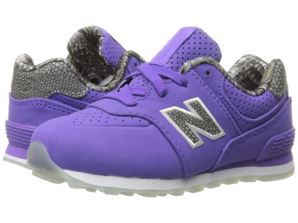 New Balance Kids - KL574v1 Ice Rubber Outsole (Big Kid) (Purple/Purple) Girls Shoes