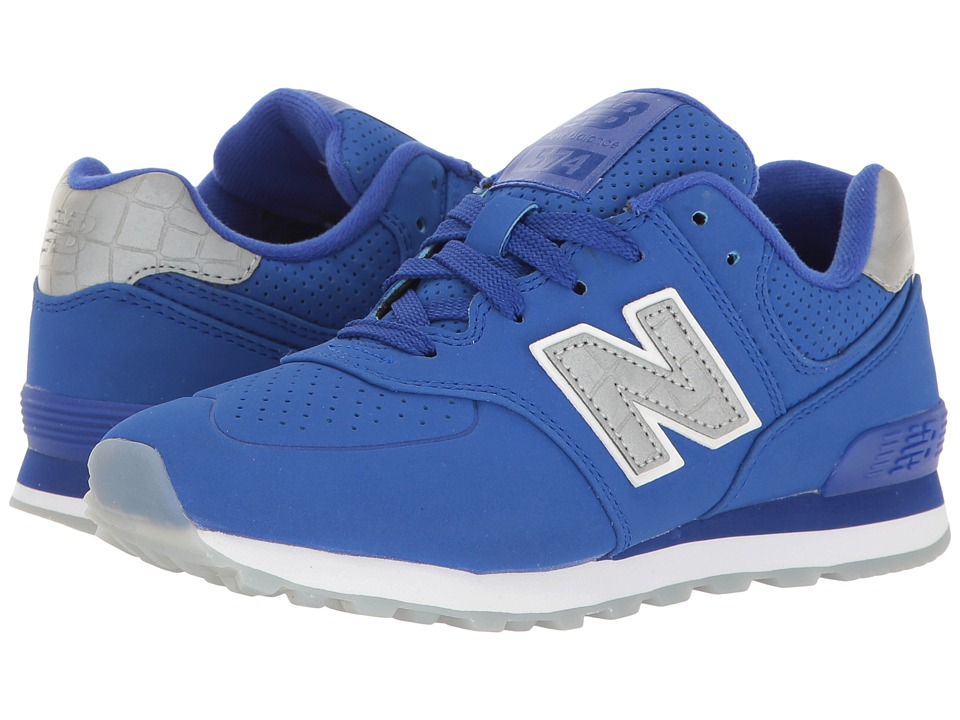New Balance Kids - KL574v1 (Little Kid) (Blue/Blue) Boys Shoes