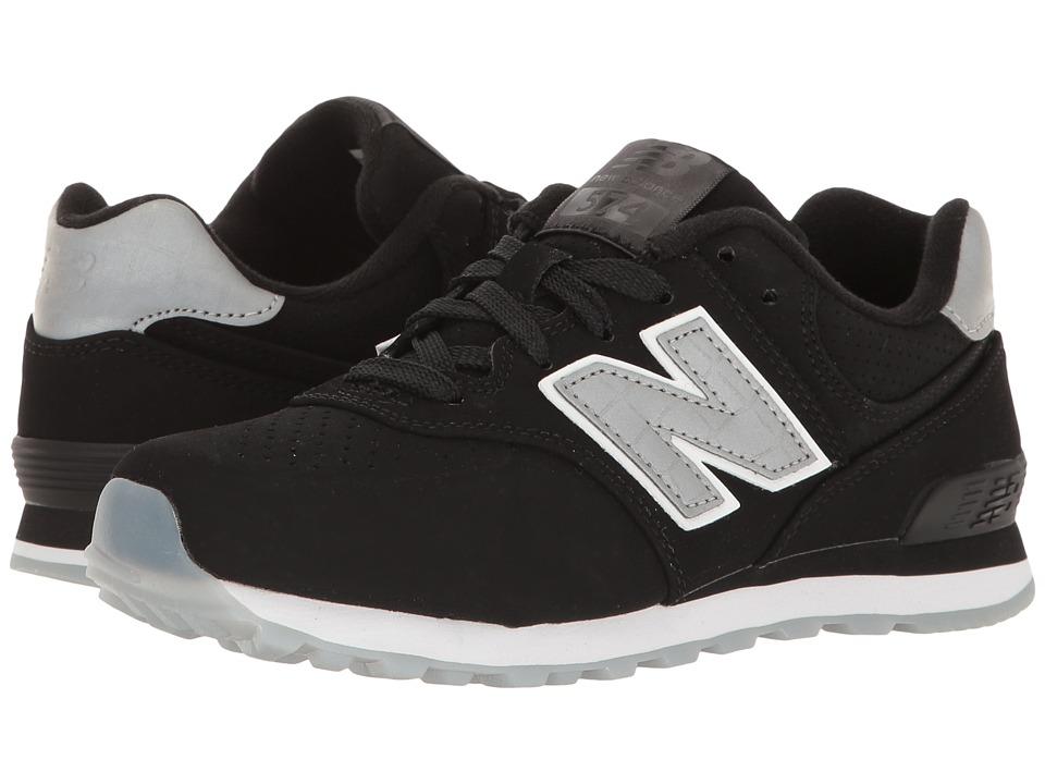 New Balance Kids KL574v1 (Little Kid) (Black/Black) Boys Shoes