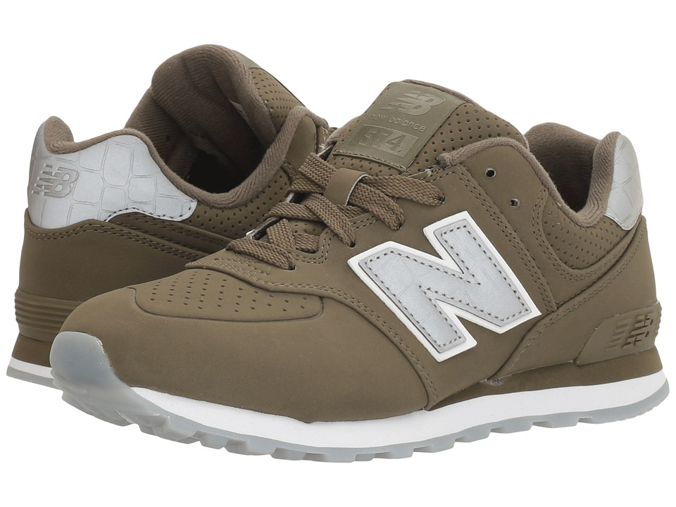 New Balance Kids - KL574v1 (Little Kid) (Green/Green) Boys Shoes