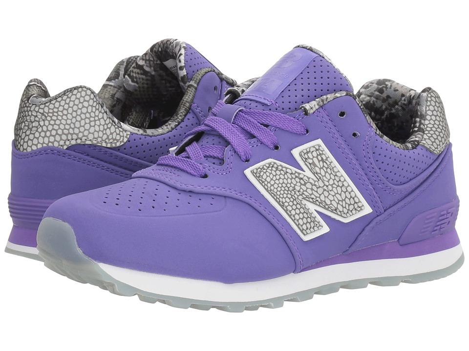 New Balance Kids - KL574v1 Ice Rubber Outsole (Little Kid) (Purple/Purple) Girls Shoes