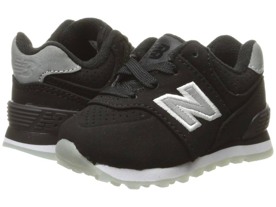 New Balance Kids KL574v1 Ice Rubber (Infant/Toddler) (Black/Black) Boys Shoes
