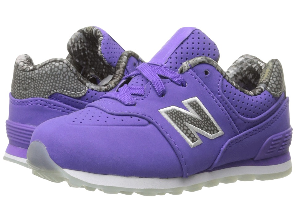 New Balance Kids - KL574v1 Ice Rubber (Infant/Toddler) (Purple/Purple) Girls Shoes