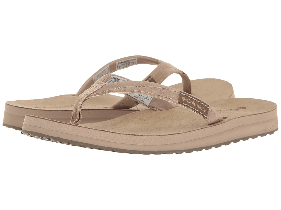 Columbia - Sorrento Leather Flip (Oxford Tan/Sunset Red) Women's Sandals