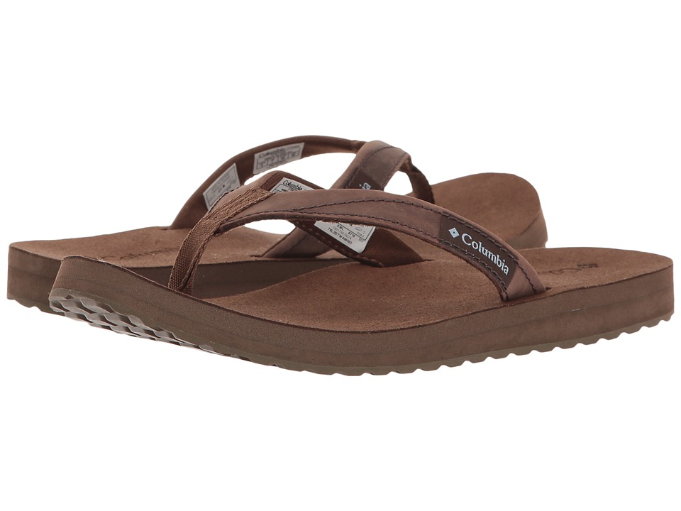Columbia - Sorrento Leather Flip (Dark Brown/Dark Mirage) Women's Sandals