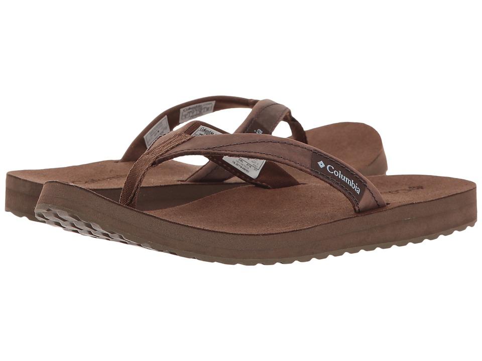 Columbia - Sorrento Leather Flip (Dark Brown/Dark Mirage) Women's Sandals